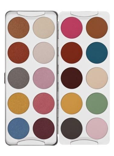 Kryolan Eye Shadow Palette 20 Colors Renkli